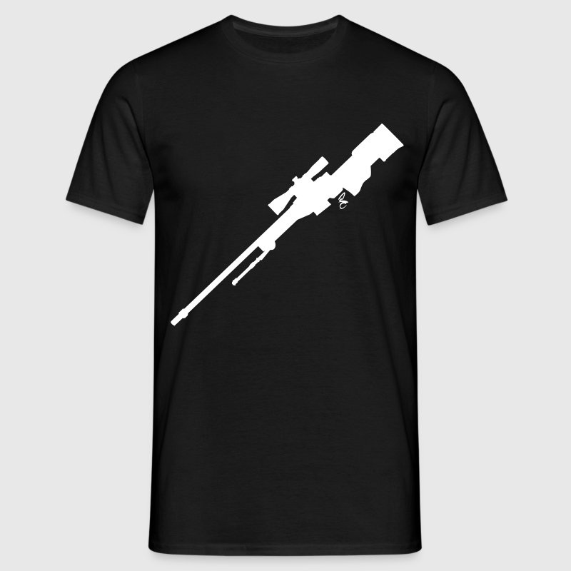 AWP Rifle Silhouette - Men's T-Shirt