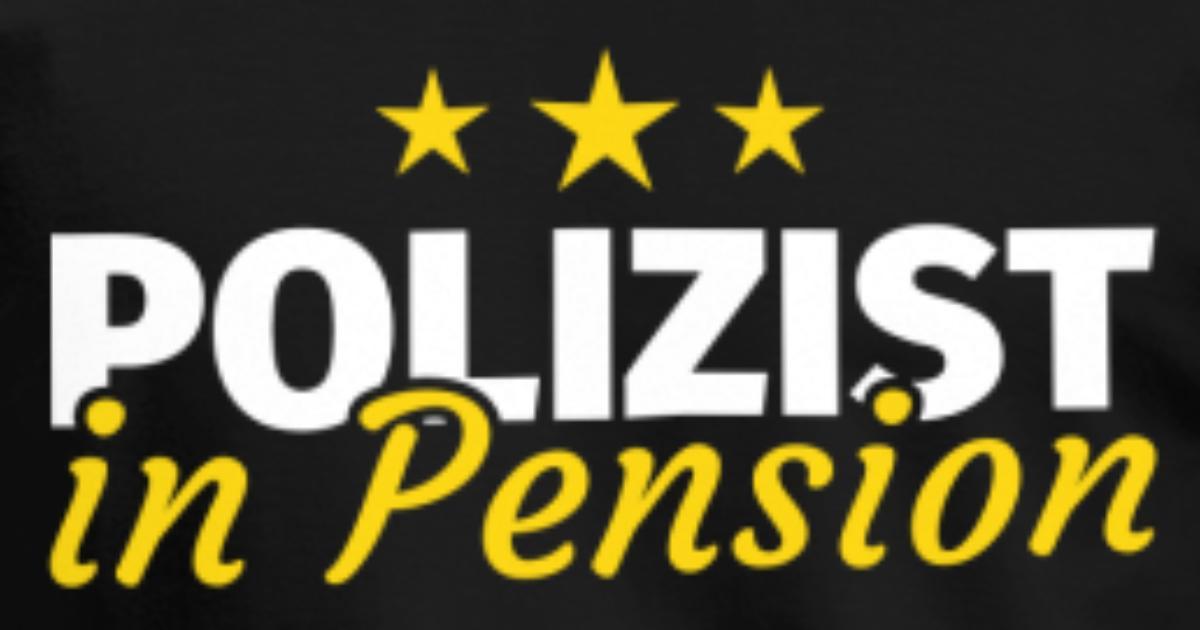 Polizist Rente Ruhestand Pension Geschenk von accountaccount ...
