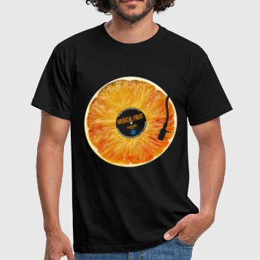 Orange Musical Fruit - Men's T-Shirt