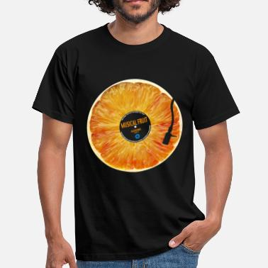 Azzuro Orange Musical Fruit - Men's T-Shirt