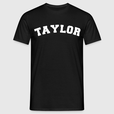taylor sports name surname jersey curved - Men's T-Shirt