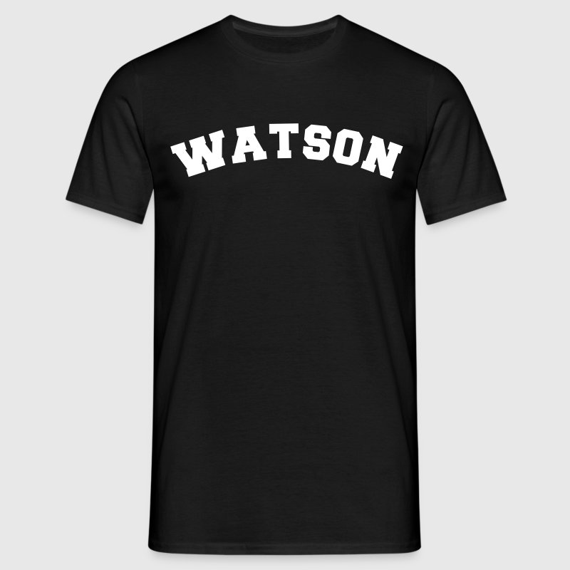 watson name surname sports jersey curved - Men's T-Shirt