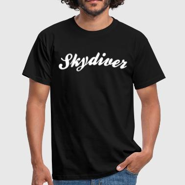 skydiver cool curved logo - Men's T-Shirt