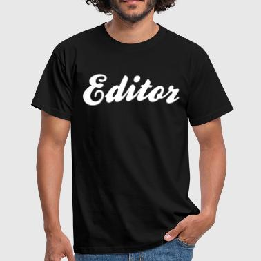 Editor editor cool curved logo - Men's T-Shirt