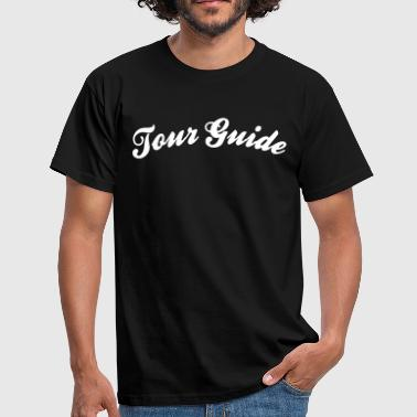 tour guide cool curved logo - Men's T-Shirt