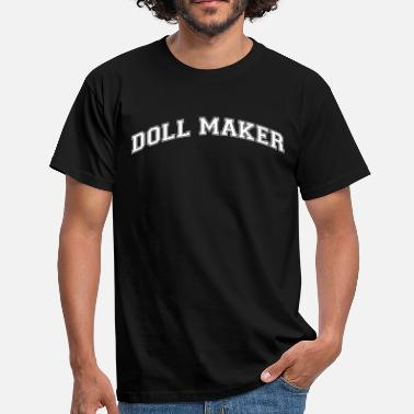 Logo Maker doll maker college style curved logo - Men's T-Shirt