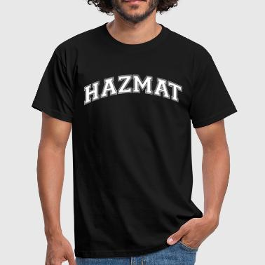 hazmat college style curved logo - Men's T-Shirt