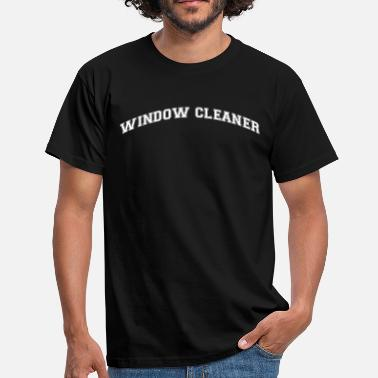 Window window cleaner college style curved logo - Men's T-Shirt