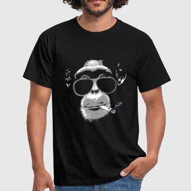 Singe Chimpanzee with joint   - T-shirt Homme