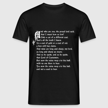 The Rains of Castamere - T-shirt herr