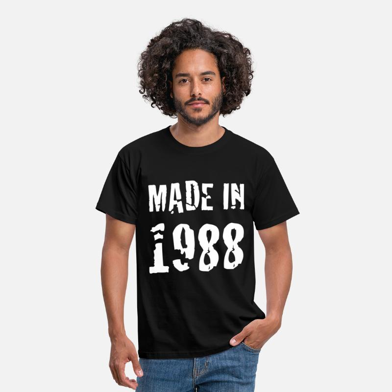 1988 T-Shirts - Made In 1988 - Men's T-Shirt black