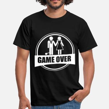Stag Party Game Over Game over - Stag do - Hen party - Funny - Men's T-Shirt