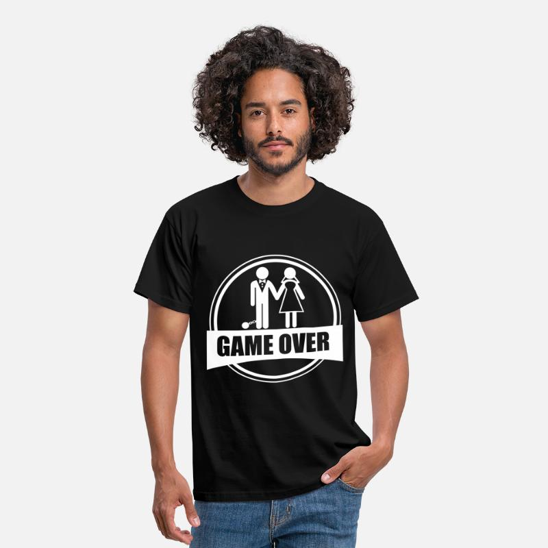 Game Over T-Shirts - Game over - Stag do - Hen party - Funny - Men's T-Shirt black