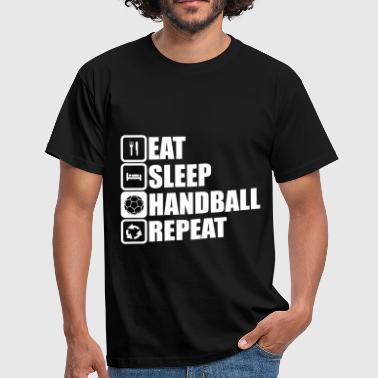eat sleep handball repeat - Maglietta da uomo