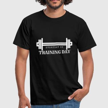 Elke dag is Trainingsdag / Fitness - Mannen T-shirt
