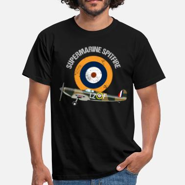 Warbird Retro Design Supermarine Spitfire Warbird Airplane - Men's T-Shirt