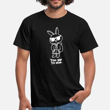 Bunny Easter Bunny Too Hip Hop Easter Bunny Gift - Mannen T-shirt