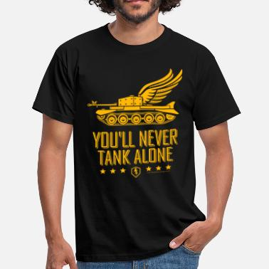 World Of Tanks World Of Tanks Blitz You'll Never Tank Alone - Maglietta da uomo