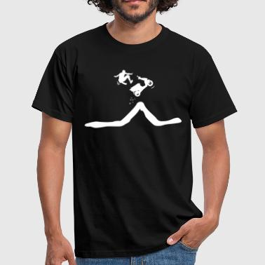 Scooter jump down the driver  - Men's T-Shirt