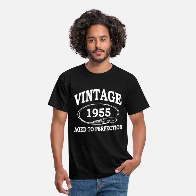 1955 T-Shirts - Vintage 1955 Aged To Perfection - Men's T-Shirt black