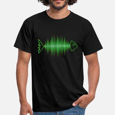 Festival Fish skeleton, frequency, music, wave, curve, - Men's T-Shirt