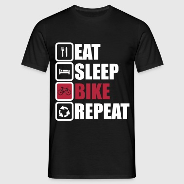eat sleep bike repeat,radsport,Fahrrad - Männer T-Shirt