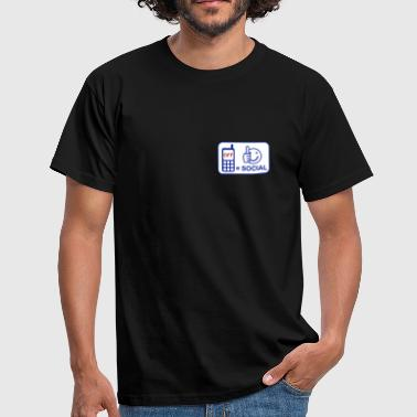 Mobile phone off is social - Men's T-Shirt