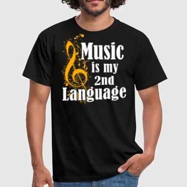 Schulband Music Is My 2nd Language - Männer T-Shirt
