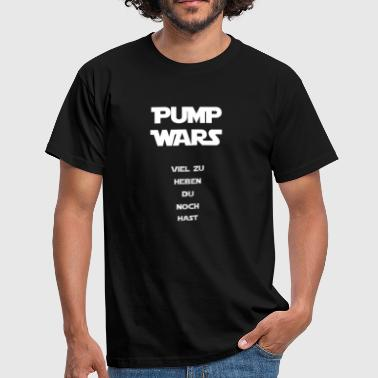 Pump Wars Special white Edition - Mannen T-shirt