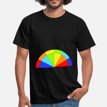 Double Rainbow Double rainbow semicircle - Men's T-Shirt