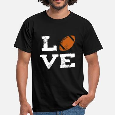 Football Witze Love American Football Sport - Männer T-Shirt