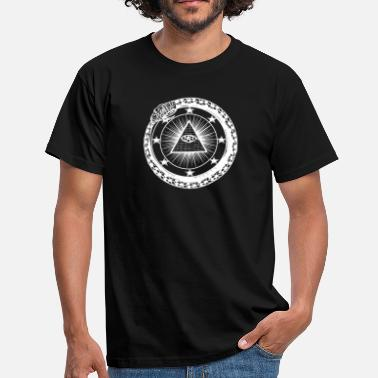Pyramid Illuminati Oroboros snake illuminati pyramid with eye - Men's T-Shirt