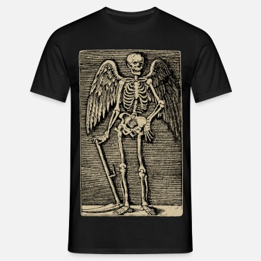 Kupferstich Angel of Death  - Männer T-Shirt