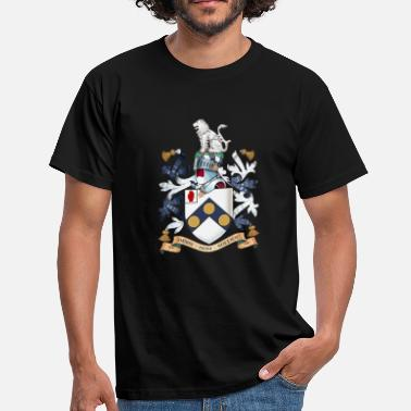 "Family Crest James Bonds coat-of-arms ""The world is not enough - Men's T-Shirt"