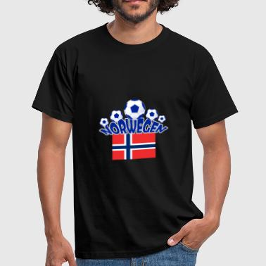 Norge Fotball Fotball Ball Sports Ball Norway - T-skjorte for menn