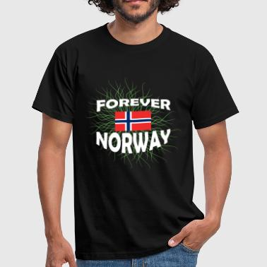 Forever Young Flag Norway Norway Forever - Herre-T-shirt