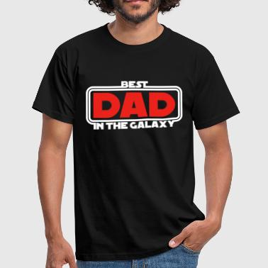 Best Dad in the Galaxy (dark) - T-shirt Homme