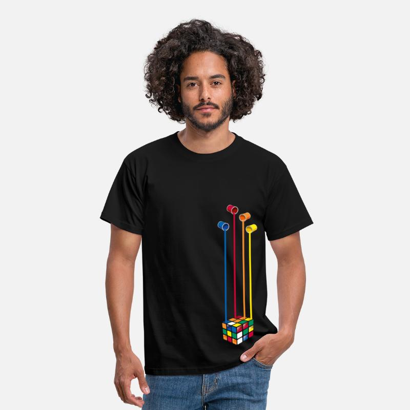 Cool T-Shirts - Rubik's Paint Buckets - Men's T-Shirt black