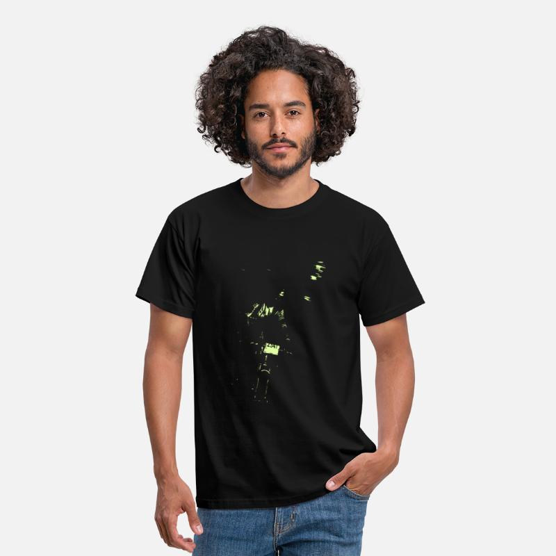 Cycling T-Shirts - night rider green  - Men's T-Shirt black