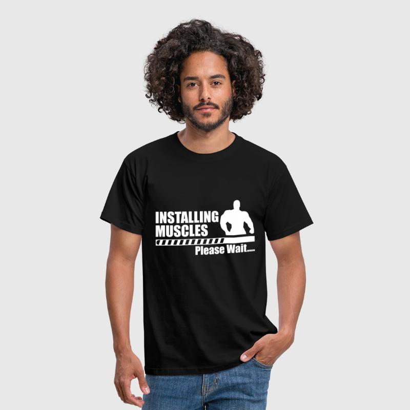 Funny gym - Installing Muscle  - Men's T-Shirt