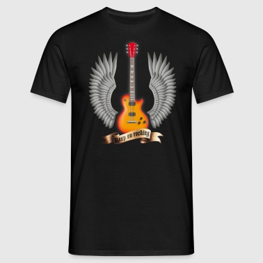 guitars_and_wings_red - Men's T-Shirt