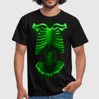 skeleton poisonous green - Men's T-Shirt