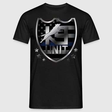 K-9 Unit  Badge -Police Dog Unit - Malinois - Men's T-Shirt