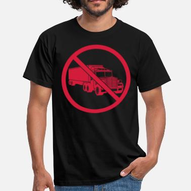 Panic zone prohibited no sign truck truck wagon fer - Men's T-Shirt