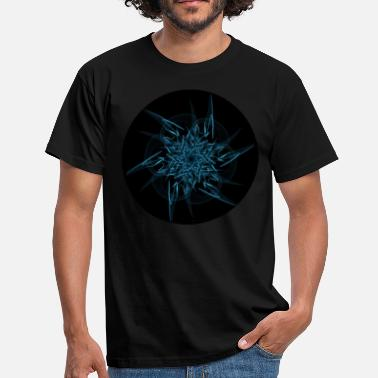 Blacklight Mandala - Blue Nebula - Männer T-Shirt