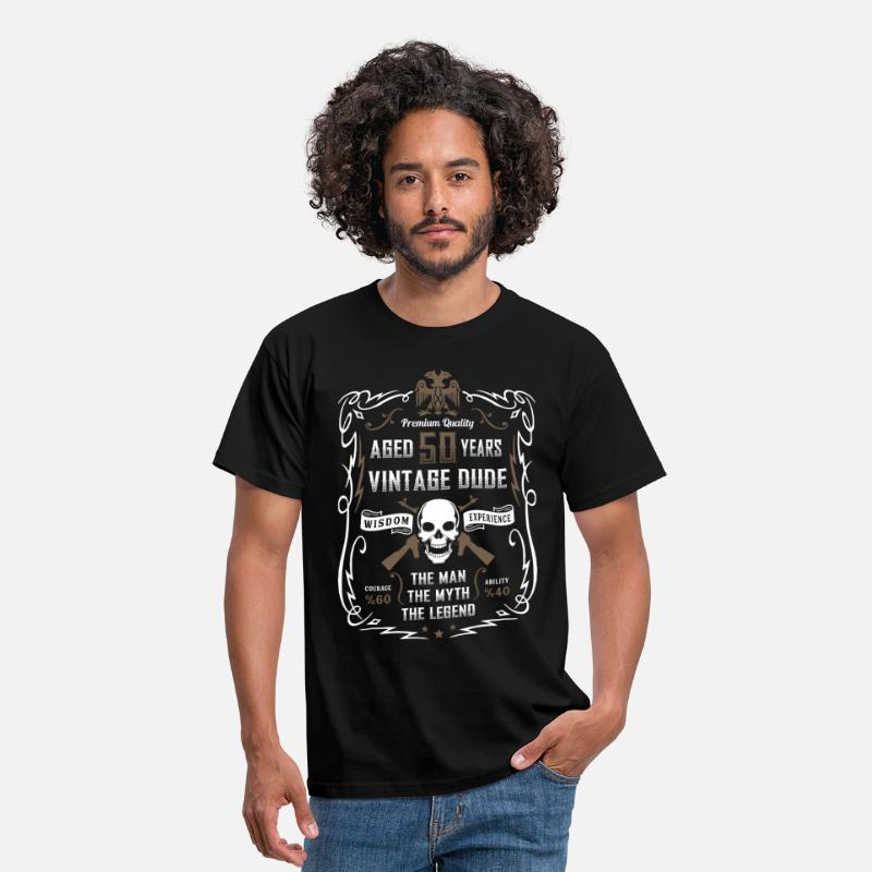 Birthday T-Shirts - Aged 50 Years Vintage Dude - Men's T-Shirt black