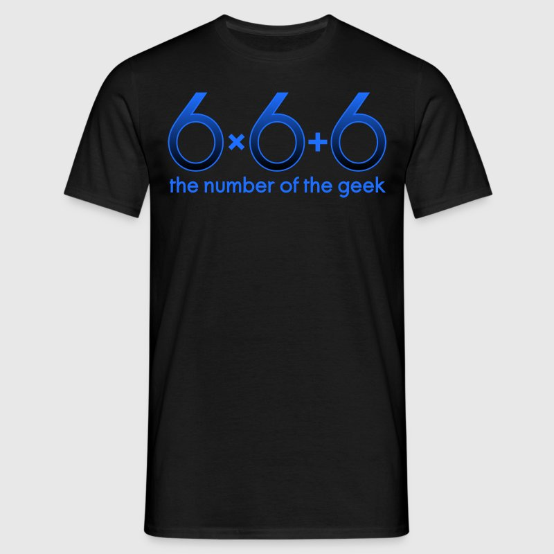 666 - the number of the geek - T-shirt herr