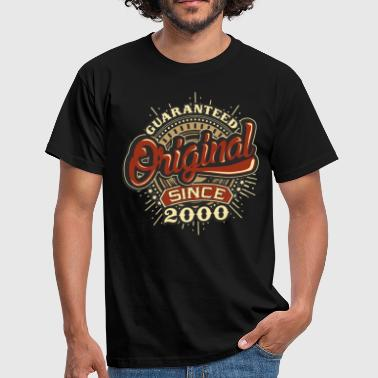 2000 Birthday guaranteed since 2000 - Männer T-Shirt