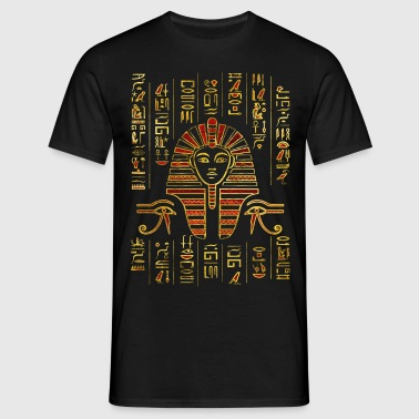 Egyptian Sphinx on hieroglyphics red crystal - Men's T-Shirt