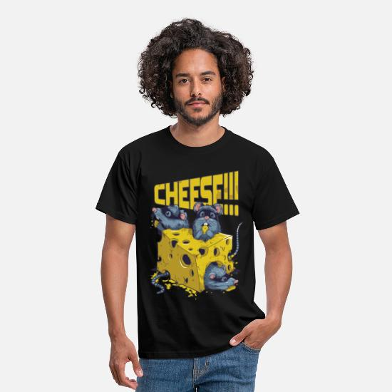 Divertidas Camisetas - SAY CHEESE!! - Camiseta hombre negro